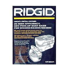 Ridgid VF3502 Vacuum Bags
