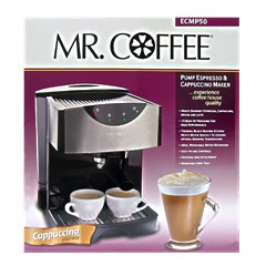 Mr Coffee Pump Espresso/Cappuccino/Latte Maker: ECMP50