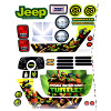 Power Wheels DRH62 Teenage Mutant Ninja Turtles Jeep Decal Sheet #3900-4213