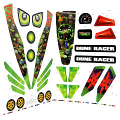 Power Wheels DRH63 Teenage Mutant Ninja Turtles Decal Sheet #3900-4243