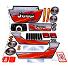 Power Wheels BCK85 Jeep Wrangler Decal Sheet #BCK85-0310