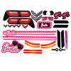 Power Wheels Barbie Corvette Decal BFY96-0310