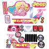 Power Wheels CBF64 Barbie Jeep Decal Sheet #CBF64-0310A