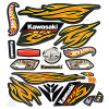 Power Wheels W4716 Kawasaki Hot Wheels KFX Decal Sheet #W4716-0321