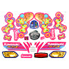 Power Wheels Barbie KFX Decal Sheet P5066-0311