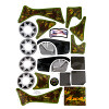 Power Wheels Camo Lil Quad Decal Sheet X3050-0310