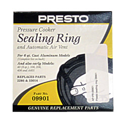 Sealing Ring Genuine Presto For 6 Quart Pressure Cooker: 09901